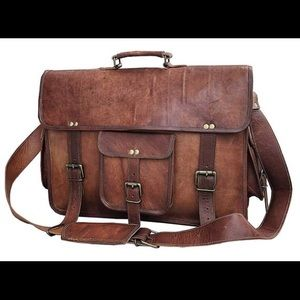 Handmade Leather Vintage Satchel / Briefcase